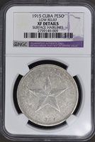 1915 Star Peso Low Relief – NGC XF Details
