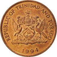 TRINIDAD & TOBAGO, Cent, 1994, Franklin Mint, AU(55-58), Bronze, KM:29