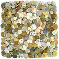 ***TREASURE HUNT!*** 40 FOREIGN COINS + 12 FOREIGN BANKNOTES!