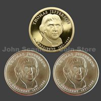 Trio of 2007 Jefferson Presidential Dollars P&D BU and S-Mint Proof (3 Coins)