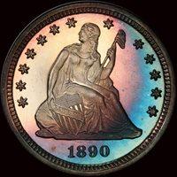 1890 25C PR68 PCGS