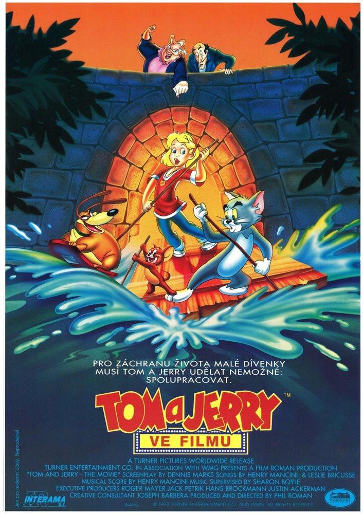 TOM AND JERRY THE MOVIE Original Czech A3 Movie Poster