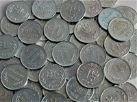 100 BELGIUM 2 FRANCS COINS of WWII LIBERATION (1944) on PENNY BLANKS by US MINT