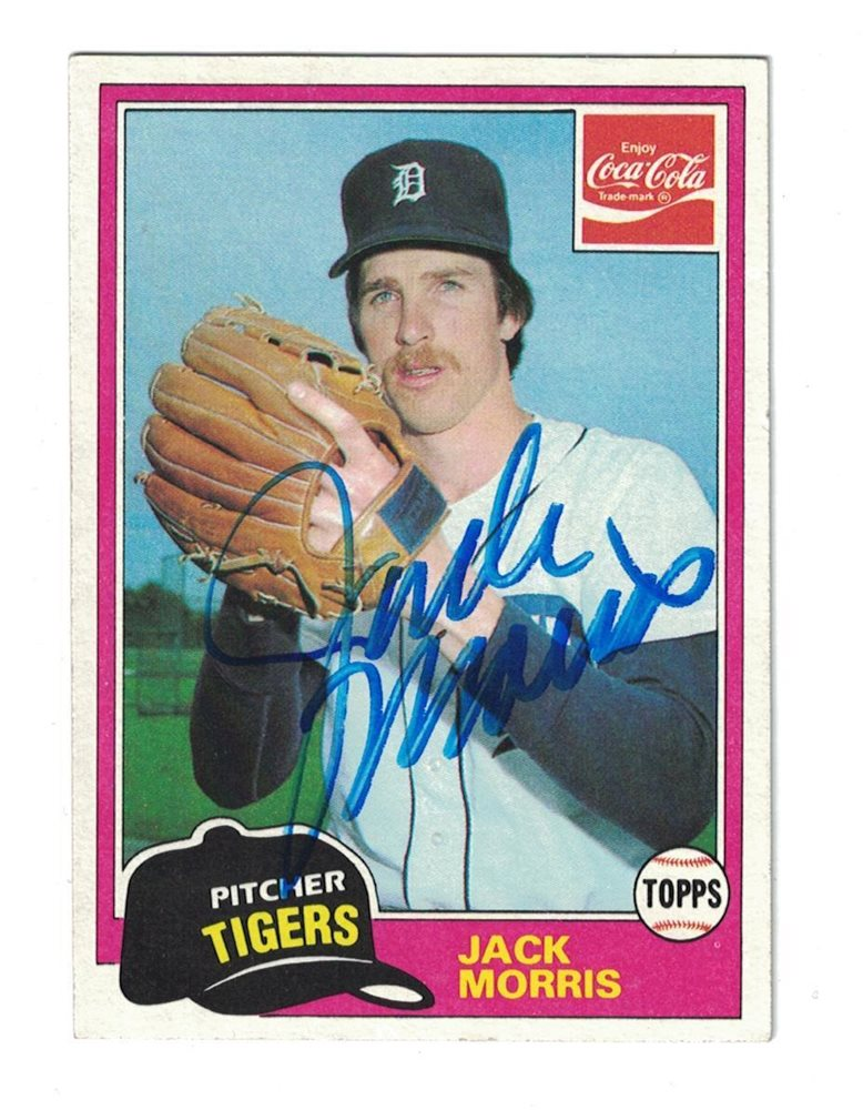 Jack Morris Autograph 1981 Topps Coca Cola Baseball Card Signed Detroit Tigers