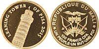 Mali 100 Francs gold 2015 Tower of Pisa