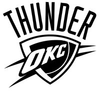 "Oklahoma City Thunder NBA Decal ""Sticker"" for Car or Truck or Laptop"