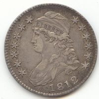 1812 Capped Bust Half Dollar, Sharp and Original XF