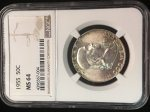 1955 Franklin 50c NGC MS64