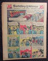1948 Feb 8 Sunday Mirror Comic Section VG+ 4.5 Superman / Joe Palooka 16pgs