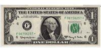 Fr.1901-F* $1 1963 A Atlanta STAR GEM CU