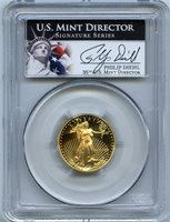 2000-W $10 gold eagle pcgs pr70