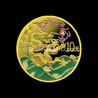 2000 1/10 oz Gold Dragon Color Proof Coin