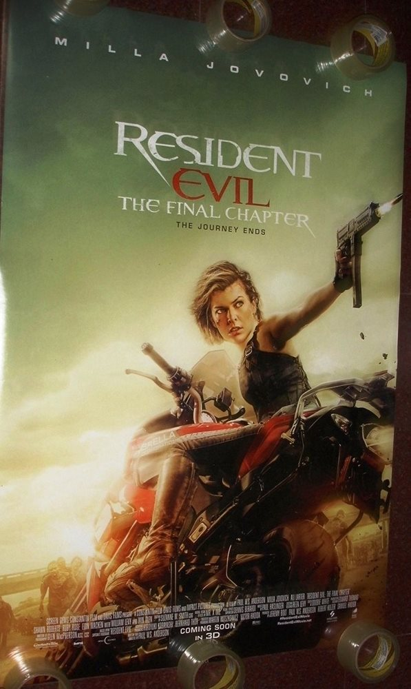Resident Evil The Final Chapter 27 X 40 Ds Poster Doub