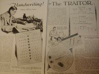 OCT 1932 MAGAZINE PAGE #A293- HANDWRITING- BY WILLIAM ATHERTON DUPUY- 5 PGS
