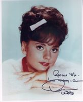 Dawn Wells - Item 3832 - as Mary Ann of Gilligan's Island Very nice color 8x10 photo signed - 'Rescue Me! Love Mary-Ann Dawn Wells'