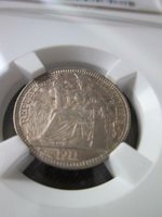 French Indochina 10 Cents 1911A NGC MS 62