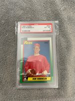 1990 TOPPS RON ROBINSON #604 PSA GRADED EX-MT 6 REDS