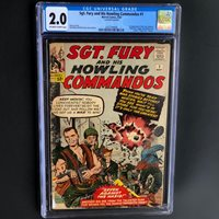 SGT. FURY AND HIS HOWLING COMMANDOS #1 (1963)  CGC 2.0 OW-W  1ST SGT FURY!