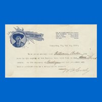 "William F. Cody ""Buffalo Bill"", Signature on Letterhead"