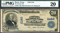 HGR CH#11140 1902 $20 WACO Texas ((Wanted TEXAS) PMG VF-20