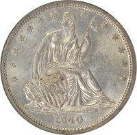 1840 Liberty Seated Half Dollar NGC MS61 WB-104