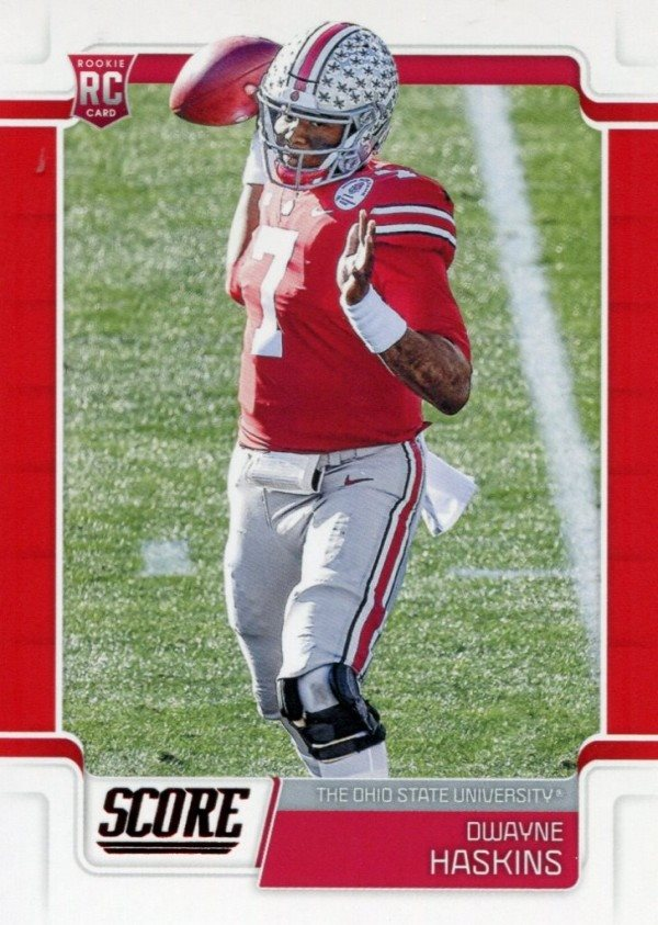 buy popular 22394 7fb49 Dwayne Haskins 2019 Score Red Rookie Card