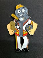 LITTLE LEAGUE PIN: HOUSTON ASTROS GARBAGE CAN MAN LITTLE LEAGUE PIN (3.5 INCH)