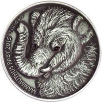 Burkina Faso 2015 1000 Francs Mammoth Baby Real Eyes 1oz Silver Coin