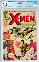 1963 X-Men 1 CGC 4.5! ! 1st App of Magneto, Mutants, Professor X! KEY! Sharp!