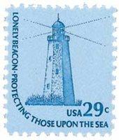 #1605 – 1978 29c Americana Series: Sandy Hook Lighthouse
