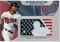 BYRON BUXTON TWINS 2017 TOPPS SILHOUETTED BATTER LOGO PATCH #IDML-BB