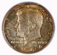 1964 50C Kennedy Half Dollar PCGS MS 66 +