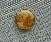 2 euro Angel coloured gold plated