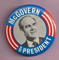 Vintage 3 inch Pin McGovern For President