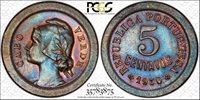 1930 Cape Verde 5 Centavos PCGS MS 63