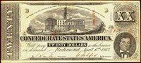 $20 1863 CONFEDERATE XF