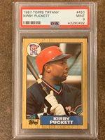 1987 Topps Tiffany #450 Kirby Puckett Minnesota Twins PSA 9 MINT