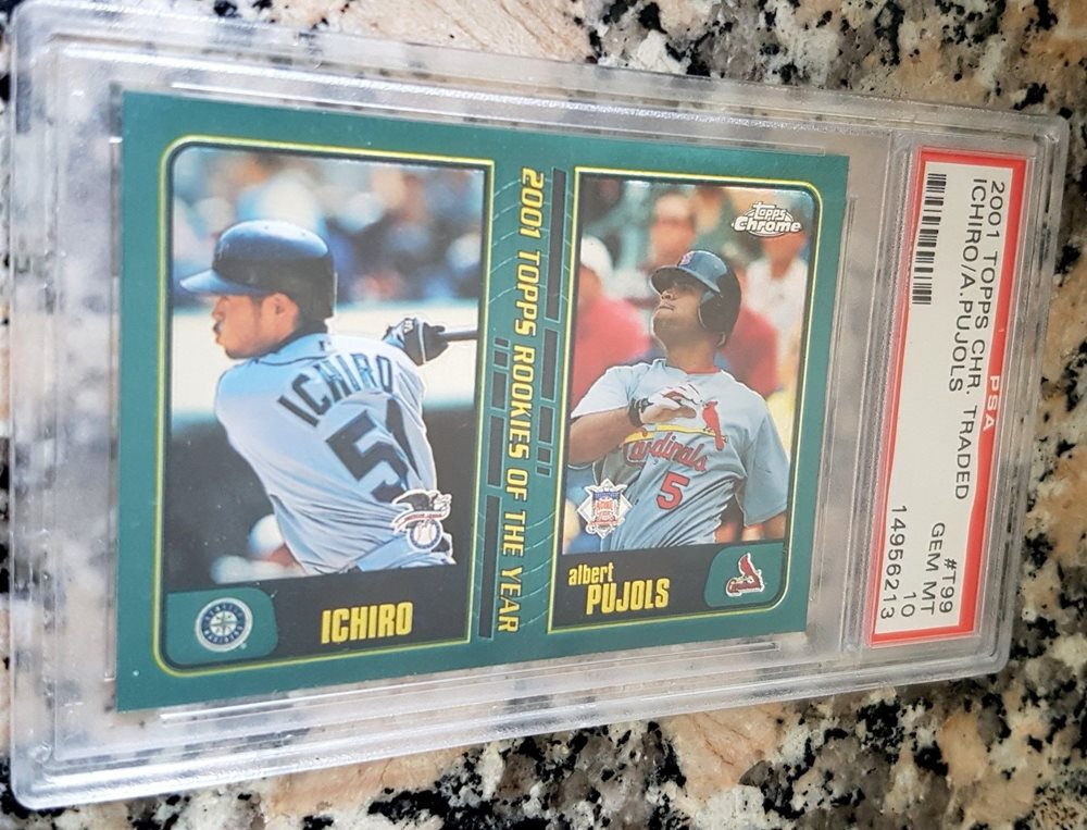 Albert Pujols Ichiro 2001 Topps Chrome Traded Rookie Card Rc Psa 10 Gem Mint Hof