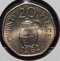 Guernsey 1982 20 Pence 191159 combine shipping
