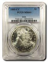 1885-CCMORGAN DOLLAR$1.00PCGSMS-64+