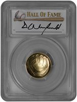 2014-W $5 Baseball Hall Of Fame (PCGS-MS70) Dave Winfield (1 of 7 Gold Glove Award)