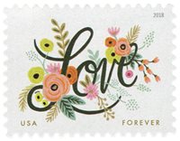 #5255 – 2018 First-Class Forever Stamp - Love Flourishes