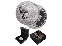 $1 Dollar Rakiura tokoeka Kiwi New Zealand 1 oz fine silver 2017 Proof