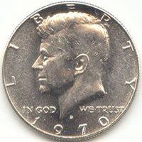 1970 D Kennedy 40% Silver Half Dollar Brilliant Uncirculated