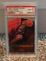 1999 Flair Showcase LICENSE TO SKILL #1 - VINCE CARTER - PSA 10 - POP4