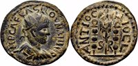 *AET* VOLUSIAN AE22. EF-. Antioch of Pisidia. Vexillum and Signa.