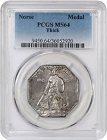 Norse Medal Thick MS64 PCGS