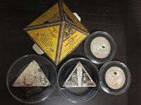 2008 isle of man 4pc pyramid tutankhamen silver coin no box