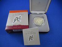 2001 RAM - $1 KANGAROO SILVER PROOF COIN - COMPLETE!!!