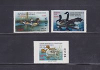State Hunting/Fishing Revenues - AL - 1985-87 Duck Stamps - 3 Different - MNH